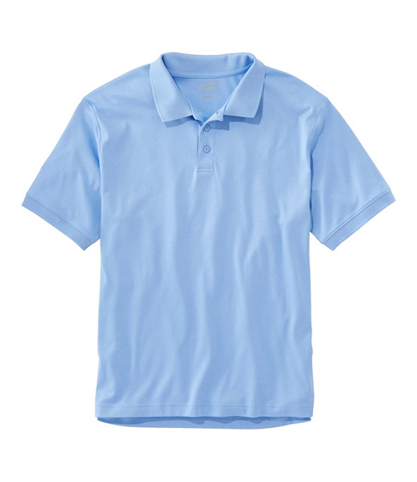 Men's Pima Cotton Banded Sleeve Polo, Brightwater Blue, large image number 0