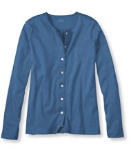 Pima Button-Front, Long-Sleeve