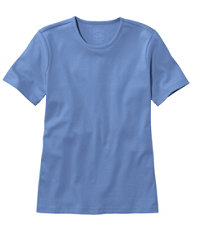 Women's Pima Cotton Short-Sleeve Crewneck