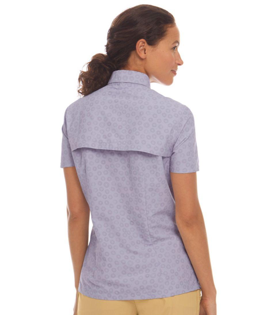 Misses' Tropicwear Shirt, Print Short Sleeve