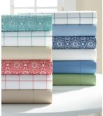 280-Thread-Count Pima Cotton Percale Sheet, Fitted, Print