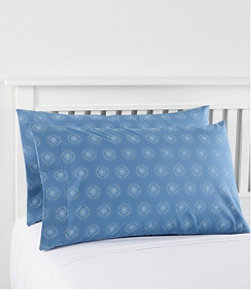 280-Thread-Count Pima Cotton Percale Pillowcases, Print, Set of Two