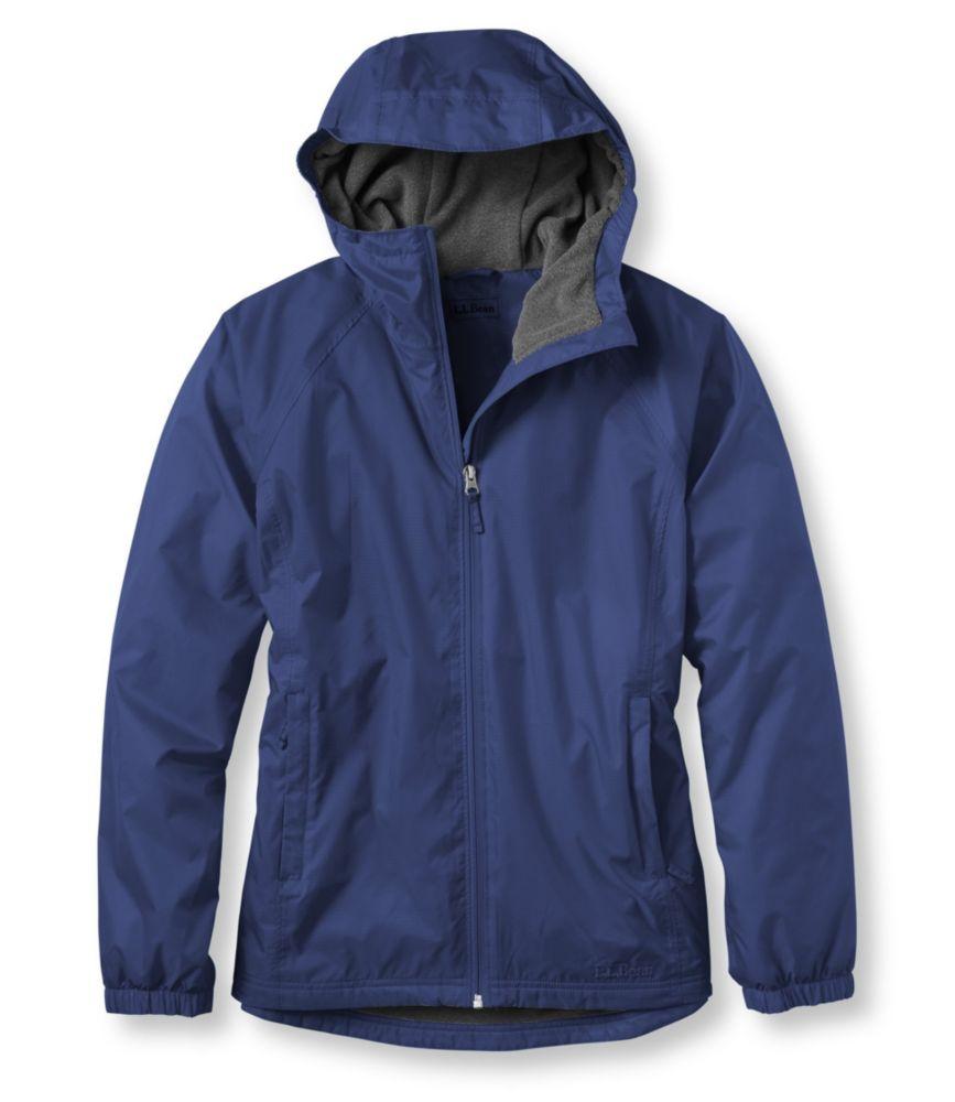 L.L.Bean Discovery Rain Jacket, Fleece-Lined