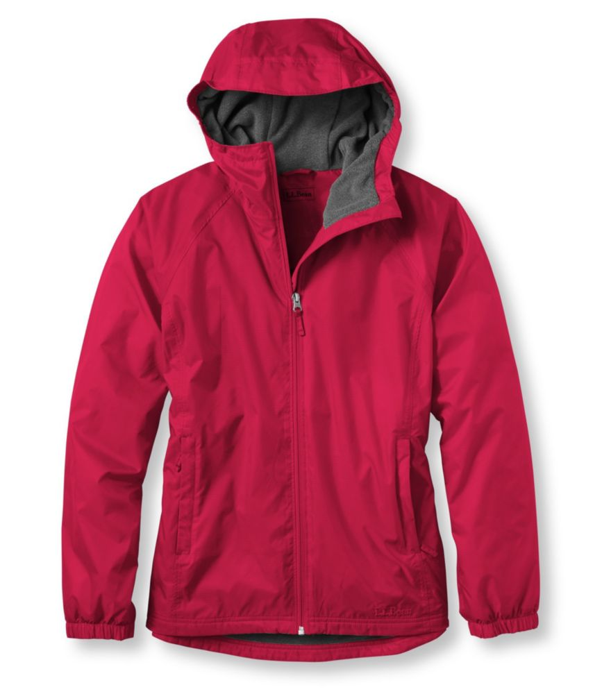 L.L.Bean Discovery Rain Jacket, Fleece-Lined