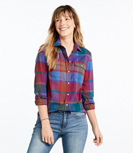 Women's Signature Lightweight Flannel Shirt, Plaid