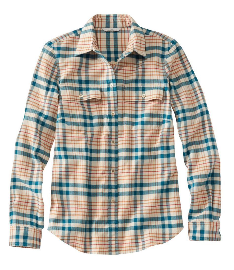 Signature Lightweight Flannel Shirt, Plaid