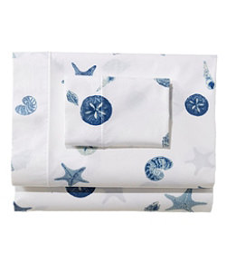 Seashell Percale Sheet Collection