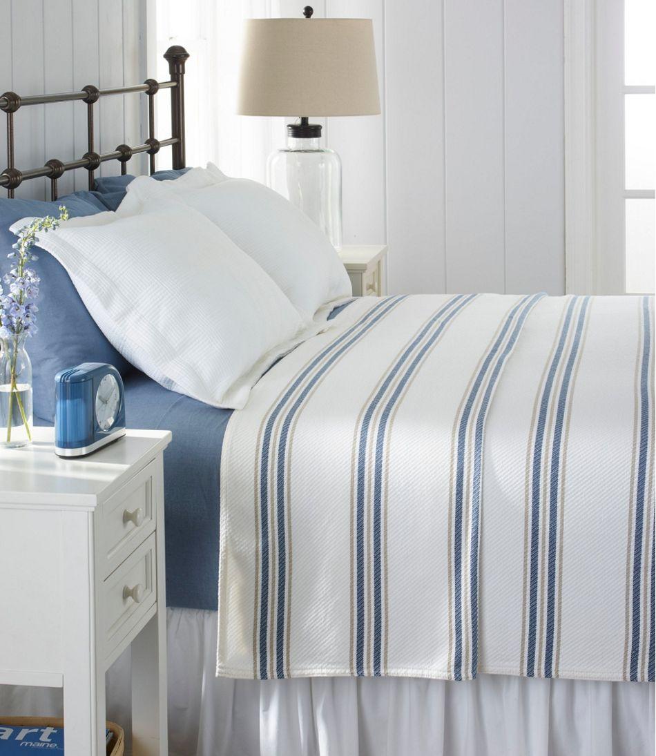 Maine-Made Cotton Blanket, Stripe
