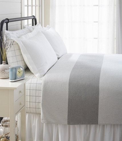 Maine Made Cotton Blanket Stripe