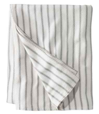 Maine-Made Cotton Blanket, Stripe