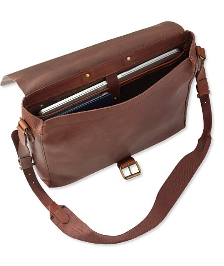 Men's Vintage Style Clothing Signature Leather Messenger Bag $199.00 AT vintagedancer.com