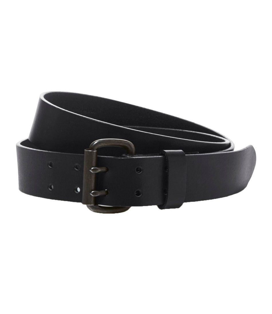 Men's Double-Prong Leather Belt