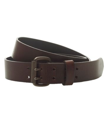 Signature Double-Prong Leather Belt
