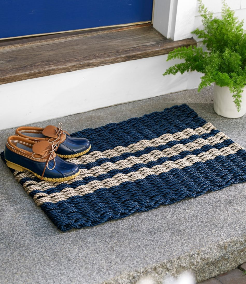 Nautical Rope Doormat, Triple Stripe