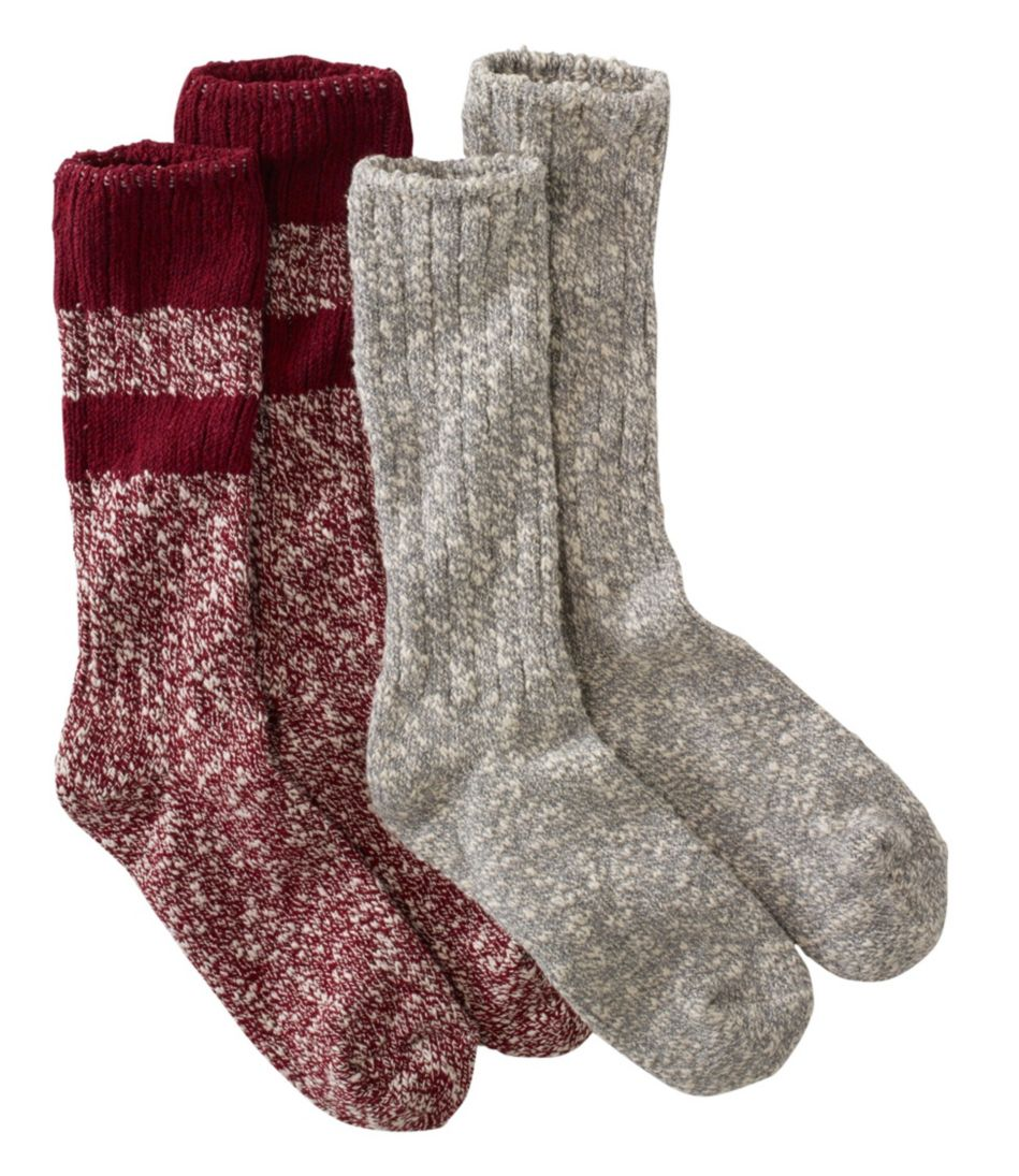 Cotton Ragg Camp Socks, Two-Pack