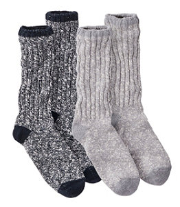 Men's Cotton Ragg Camp Socks, Two-Pack