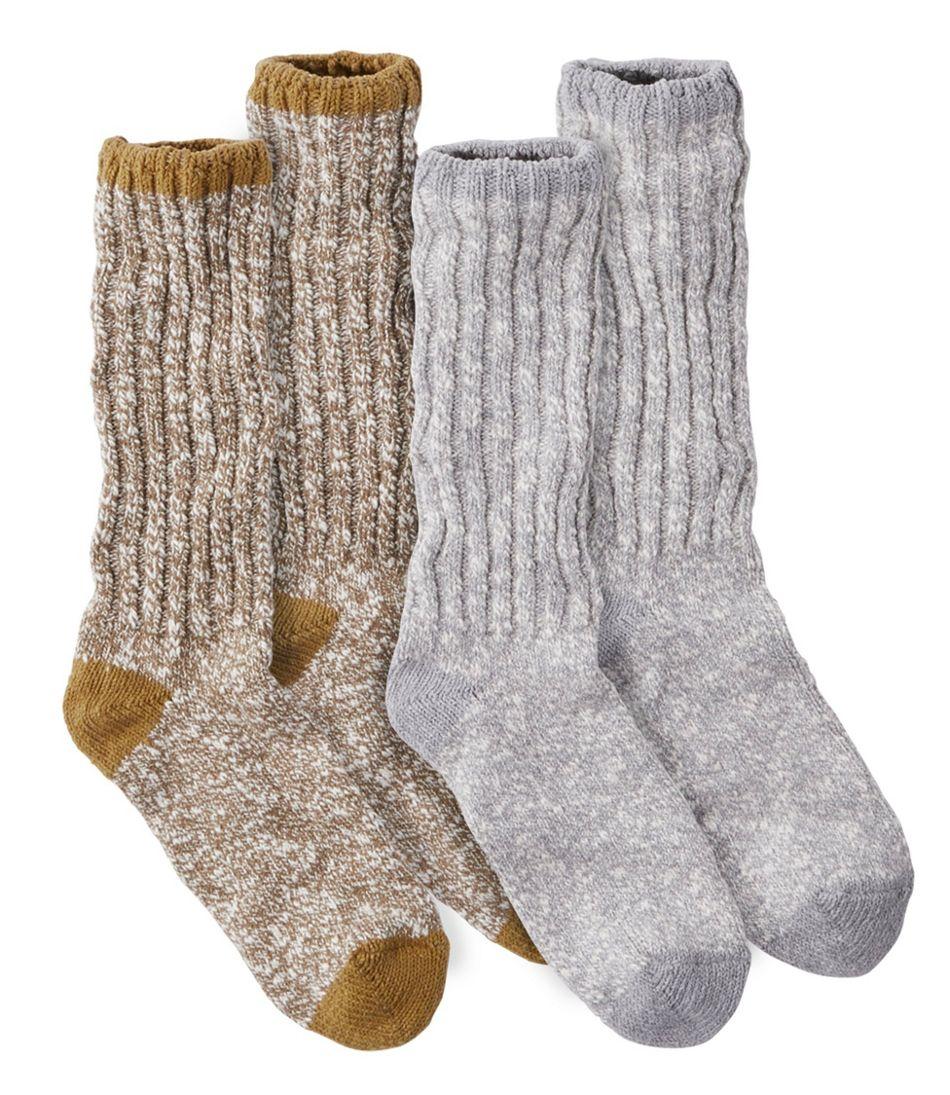 Men's Cotton Ragg Camp Socks, Two-Pack