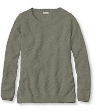 Textured Cotton Sweater, Pullover