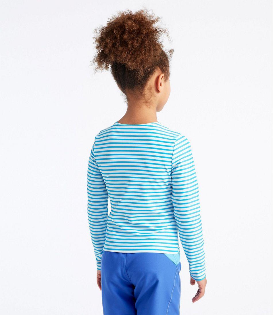 Girls' Sun-and-Surf Shirt, Long-Sleeve Stripe