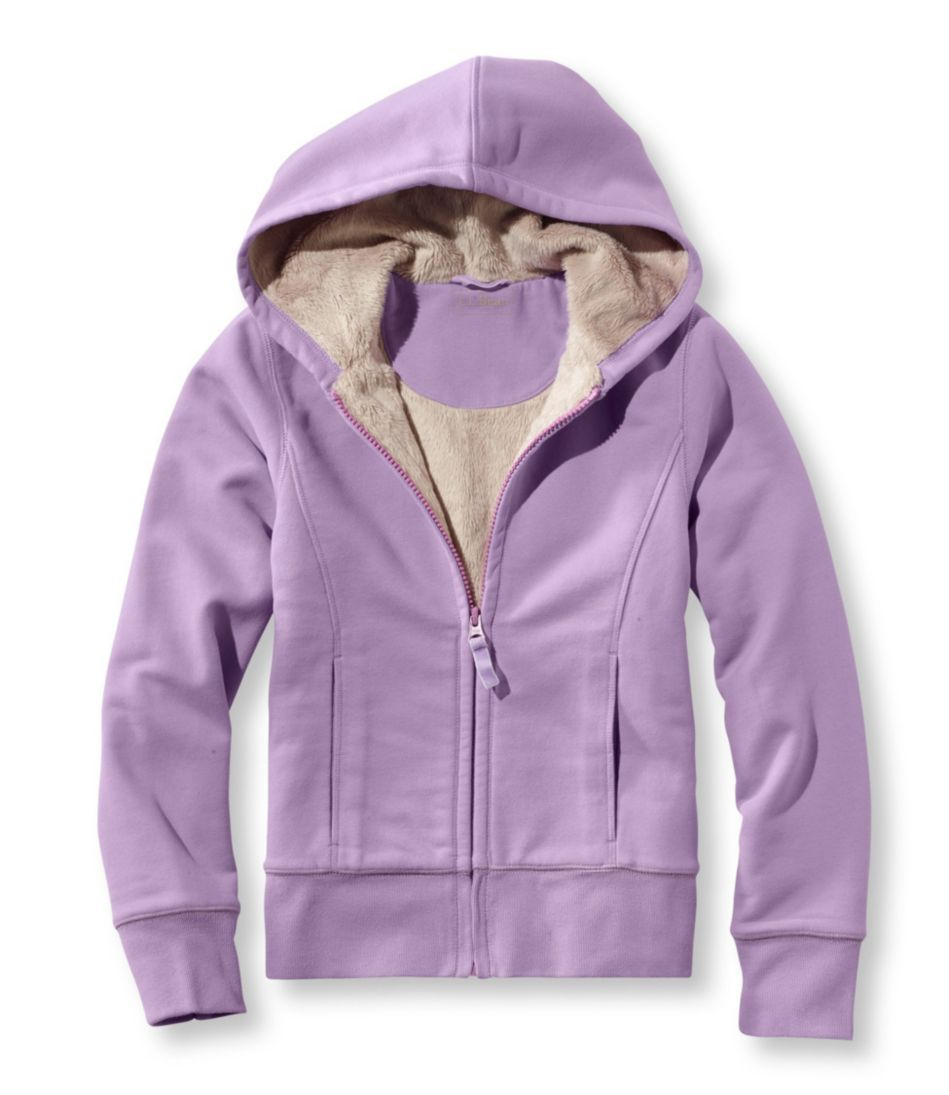 Girls' Fleece-Lined Camp Sweatshirt, Hoodie