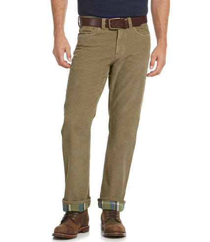 Men's L.L.Bean 1912 Pants, Corduroy Standard Fit Lined | Free ...