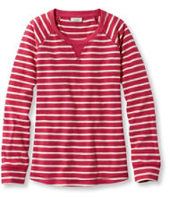 Textured French Terry Pullover, Stripe
