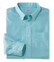 Wrinkle-Free Vacationland Sport Shirt, Slim Fit Mini-Check