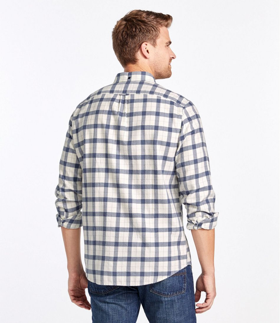 Men's Lakewashed Flannel Shirt, Slightly Fitted Plaid