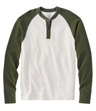 Men's Two-Layer River Driver's Shirt, Baseball Henley Colorblock
