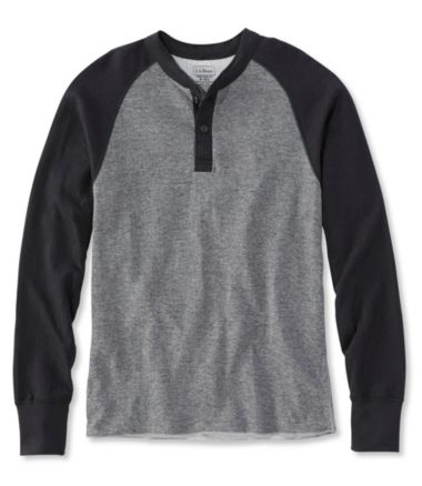 Two-Layer River Driver's Shirt, Baseball Henley Colorblock