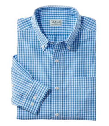 Wrinkle-Free Vacationland Sport Shirt, Slightly Fitted Gingham