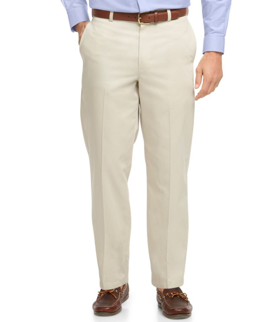 Wrinkle-Free Lightweight Chinos, Natural Fit Plain Front