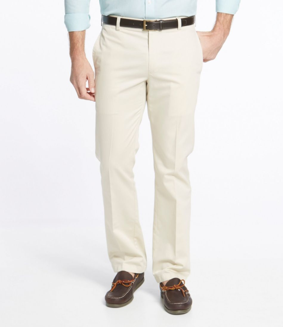 Wrinkle-Free Lightweight Chinos, Standard Fit Plain Front