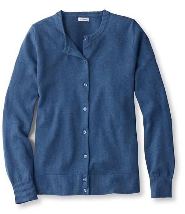 Cotton Cashmere V-Neck Sweater, Deep Blue, large image number 0
