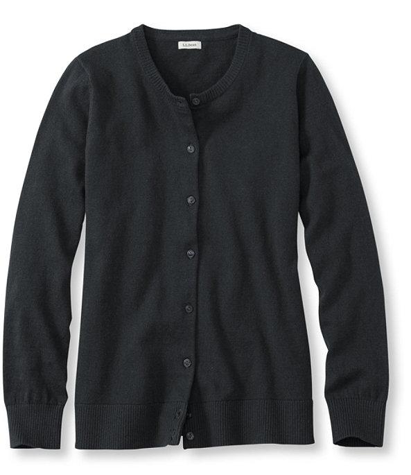 Cotton Cashmere V-Neck Sweater, Classic Black, large image number 0