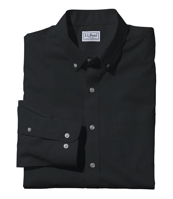 Wrinkle-Free Poplin Shirt, Men's, Classic Black, large image number 0