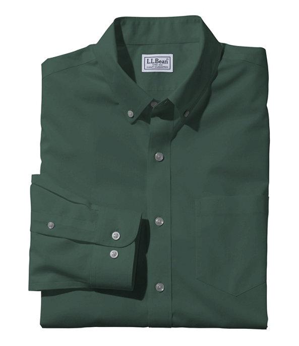 Wrinkle-Free Poplin Shirt, Men's, Hunter, large image number 0