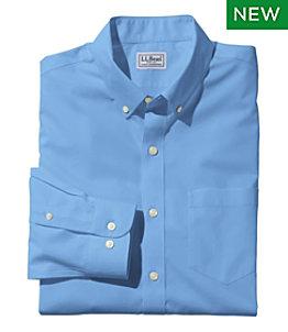 Men's L.L.Bean Wrinkle-Free Poplin Shirt, Long-Sleeve