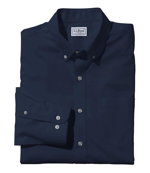 Wrinkle-Free Poplin Shirt, Men's, Bright Navy, large image number 0