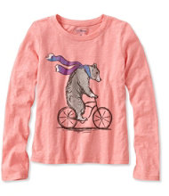 Girls' Graphic Tee, Long-Sleeve
