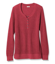 Cotton/Cashmere Sweater, Waffle Henley