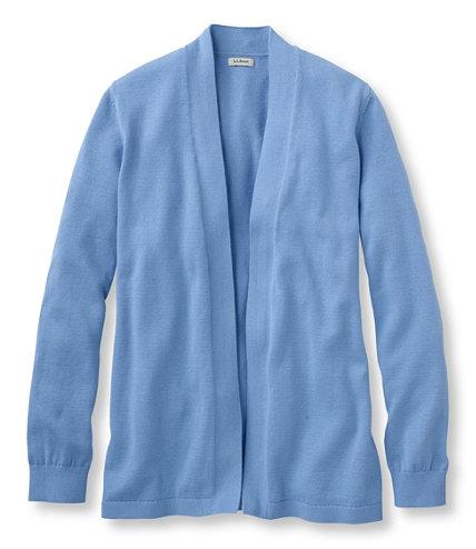 Premium Supima Cotton Sweater, Open Cardigan   Free Shipping at ...