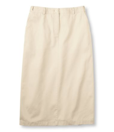 Wrinkle-Free Bayside Twill Long Skirt, Original Fit Hidden Comfort Waist