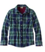 Girls' Fleece-Lined Flannel Shirt, Plaid