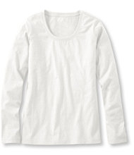 Women's Carefree Unshrinkable Shirt, Long-Sleeve Scoopneck
