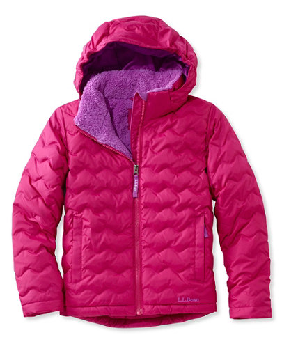Girls' L.L.Bean Fleece-Lined Down Jacket | Free Shipping at L.L.Bean.