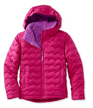 Girls' L.L.Bean Fleece-Lined Down Jacket