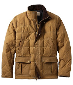 Men's L.L.Bean Upcountry Waxed-Cotton Down Jacket