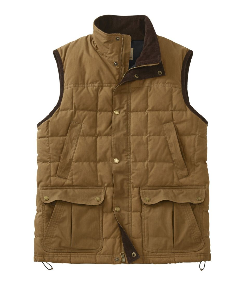 Men's L.L.Bean Upcountry Waxed Cotton Down Vest