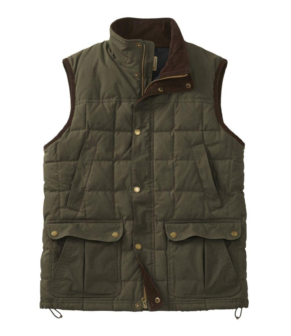 Men's L.L.Bean Upcountry Waxed Cotton Down Vest